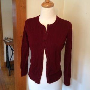 Charter Club cardigan sweater (burgundy)